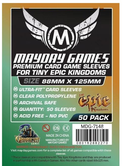 Протекторы Mayday Premium 88х125 мм Tiny Epic Kingdoms size (50 шт.)